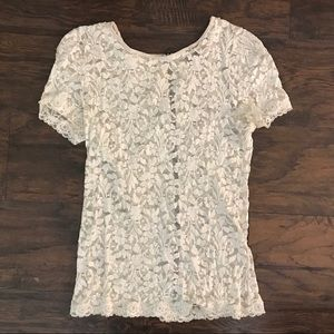 Stretch lace tee